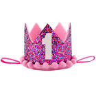 1st Birthday Crown Sparkly Headband for Baby Girl Boy Party