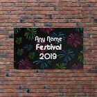 Personalised Fireworks Dance Festival Design Banner Music Gig Party Night