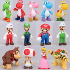 2018 Gifts Cute Super Mario Bros Luigi Mario Yoshi Bowser Action Figures Toy 5
