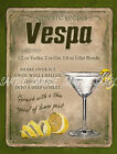 VESPA  COCKTAIL:RETRO STYLE :HOME BAR:METAL SIGN :3 SIZES TO CHOOSE FROM