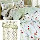 Country Journal Vintage Style Butterfly Flower Duvet Covers Floral Bedding Green