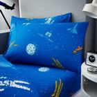 NEW Single Astronaut Blue Space Kids Printed Duvet Cover Pillowcase Sheet Set