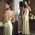 Ever-Pretty US Long Sequins Evening Dresses Glitter Sleeveless Party Gowns 07110