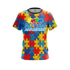 Mens Dye Sub Autism Awareness CoolWick Performance Jersey DriFit Athletic Shirt
