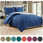 Woven Trends Medallion 3PC Luxury Comforter Quilt Bed Set Reversible Bedspread image