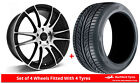 Alloy Wheels & Tyres 8.0x18 GEN2 Maven Black Polished Face + 2355518 Tyres