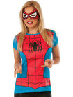 Womens Adult Spider Girl T-Shirt And Mask Set Costume