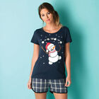 Womens Vero Moda Christmas T-Shirt In Navy From Get The Label