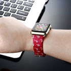 Fashion Birds Flower Silicone Wrist Band Strap For Apple Watch Series 38mm &42mm