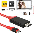 USB Type C to HDMI HDTV AV TV Cable Adapter For Samsung Galaxy S8 S9 + MacBook