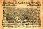 Poster, Many Sizes; Map Of Paterson New Jersey 1880