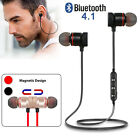 Magnetic Bluetooth4.1 Stereo Sports Earphone Wireless In-Ear Earbuds Gym Headset