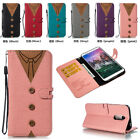 Matching Color Wallet ID Card Stand Flip Leather Case For Samsung Xiaomi Phones