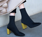 New Pattern Fashion Elastic Autumn Winter Force Socks Boots Womens Shoes Trend