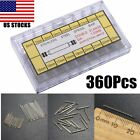 360pcs 6mm-25mm Watch Wrist Band Repair Remove Spring Bars Strap Link Cotter Pin