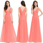 US Coral Homecoming Dress Wedding Evening Ball Gown Party Prom Bridesmaid 09016