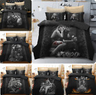 Skeleton Beauty Motorcycle Bedding Set Bed Quilt Cover Duvet Comforter Set Sheet image
