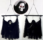Creepy Voice Halloween Door Hanging Decor Haunted House Props Red Light up Eyes