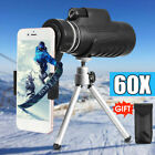 40X60 Telescope Monocular Camera Lens + Phone Clip+ Tripod For Cell Phone iPhone