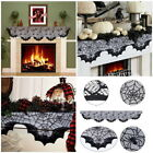 Bar Party Bat Spiderweb Props Black Lace Curtain Tablecloth Mantle Scarf Decor