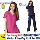 WonderWink Scrubs Set FOUR STRETCH Uniform V-neck Top &amp; Cargo Pant(6214/5214)_R <br/> 6214/5214 / Free Shipping / Free Gift
