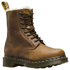 Dr.Martens 1460 Serena Leather Faux-Fur Lace-Up Combat Ankle Womens Boots