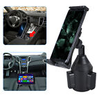 Universal Adjustable Car Mount Cup Holder Stand Cradle For Mobile Phone Tablet