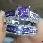 Lady Charming 925 Sterling Silver Zircon Crystal Wedding Engagement Ring Jewelry