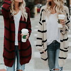 Women Loose Baggy Cardigan Coat Chunky Knitted Oversized Lady Sweater Jumper HOT