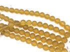 2 Strands 12mm Round Sea Glass Frosted Beads You Pick Color