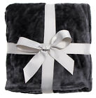 Soft Warm Solid Warm Fleece Plush Bed Couch Sofe Home Blanket Throws image