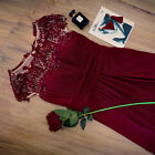 US Seller Ever Pretty Long Lace Dresses Bridesmaid Formal Mother of the Bride