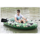 Inflatable Fishing Boat Raft PVC Canoe Dinghy Tender Kayak Sports w/ Oars & Pump