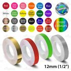 """12mm 1/2"""" PinStriping Pin Stripe Tape Car DIY Styling Line Decal Vinyl Stickers"""