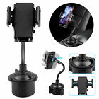 360° Car Mount Adjustable Gooseneck Cup Holder Cradle For Universal Cell Phone