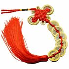 Chinese Knot Feng Shui Lucky Wealth 3/6/8/9/10 Coins Home Car Hanging Tassel