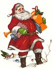 Christmas Santa Claus Packages Select-A-Size Ceramic Waterslide Decals Ox image