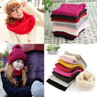 Women Winter Warm Infinity Cable Knitted Neck Cowl Collar Scarf Shawl Warps Soft