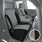 For Ford Ranger 01-03 Saddleman Canvas 1st Row Gray w Black Custom Seat Covers