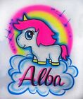 Cutest Rainbow Unicorn Airbrush Shirt - Name Included