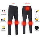 2018 Unisex Electric Heated Warm Pants USB Heating Base Layer Elastic Trousers