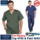 Внешний вид - Cherokee Scrubs Set CORE STRETCH Men's V Neck Top & Cargo Pants_4743/4243