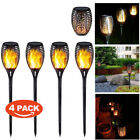 4Pcs 96 LED Solar Powered Torch Light Flickering Dancing Flame Garden Path Lamp