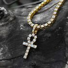 18k Gold Plated Iced Out CZ 1Row Tennis Chain 24