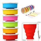 Collapsible Silicone Travel Coffee Tea Mug Outdoor Camping Cup Folding Water Cup