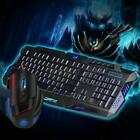 USB Wired Keyboard Adjustable DPI Mouse Combo LED Anti-Skip For PC Gaming T6U7