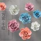 Handmade Decorative Ceramic Flowers 3D Wall Decor Room Decoration Sculpture Art