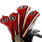 Vintage Golf Wood Head Covers Headcover Set Driver Fairway Hybrid for Taylormade