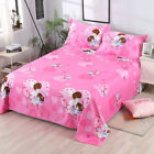 New Bed Flat Sheets Cover Printed Soft Sheets Twin Full Queen King image