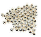 silver plated beads 4mm round corrugated